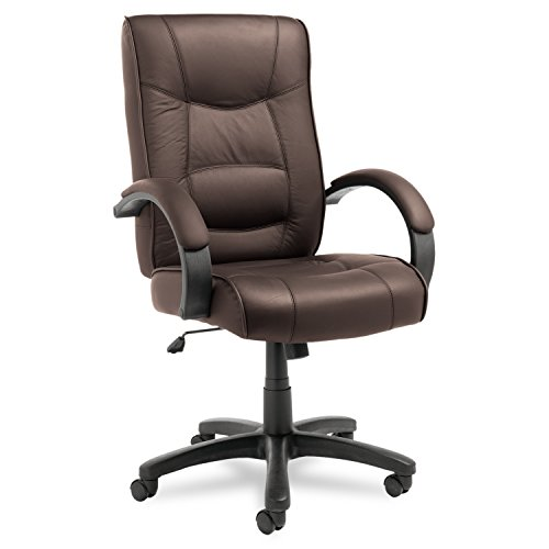 Brown Luxurious Conference Chair (Alera ALESR41LS50B Strada Series High-Back Swivel/Tilt Chair, Brown Top-Grain Leather)