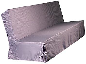 HomeMaison.com HM69453754 Housse De Clic Clac Moderne Piqué Polyester Taupe  200 X 140