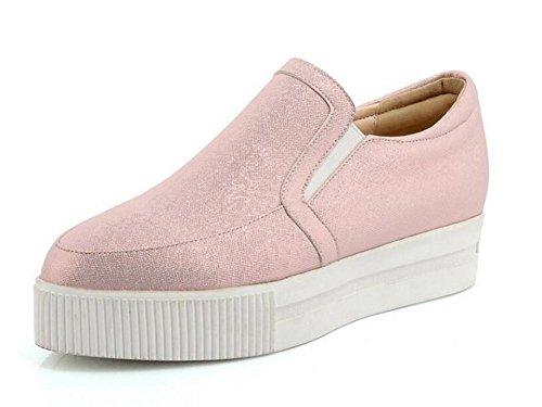 Heel Impermeable de 36 Primavera de Piel de Casual Zapatos Otoño Wedge PINK Reparación y XIE Plataforma 38 EIwH5xTwq