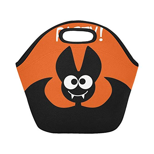 Insulated Neoprene Lunch Bag Halloween Party Idea Festive Printed Products Large Size Reusable Thermal Thick Lunch Tote Bags For Lunch Boxes For Outdoors,work, Office, School