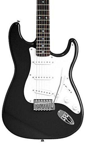 Squier Affinity Series Stratocaster Electric Guitar Black Rosewood Fretboard - Fender Strat Neck Screws