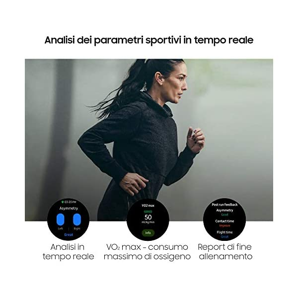 Samsung Galaxy Watch3 Smartwatch Bluetooth, cassa 41mm acciaio, cinturino pelle, Saturimetro, Rilevamento cadute… 5