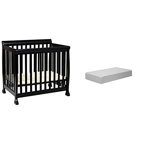 Kalani 2-in-1 Mini Crib and Twin Bed with Complete Mini Mattress with Hypoallergenic Waterproof (Da Vinci Mini Crib Mattress)