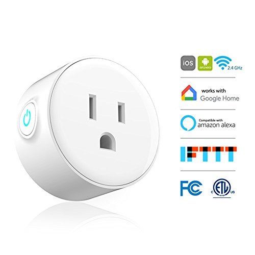 Smart Plug, Woostar Wifi Smart Socket Mini Outlet Compatible with Amazon Alexa Echo and Google Home, IFTTT, Remote Control Your Devices from Anywhere, FCC ETL - Heater Aquarium Smart Heater
