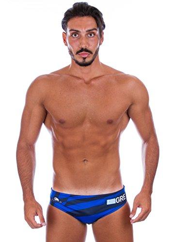 TURBO 2016 Greece Men's Water Polo Suit (Medium)