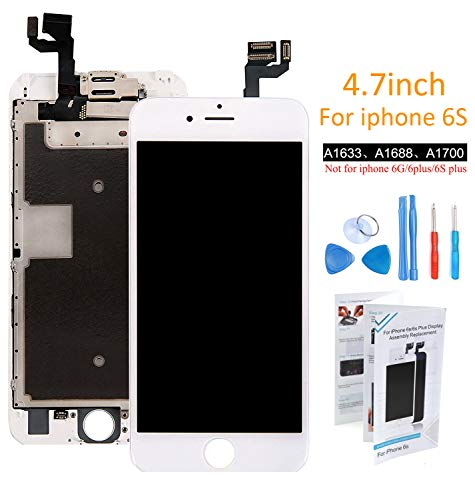 - ibaye Screen Replacement Touch Digitizer Compatible iPhone 6S White Glass Display LCD Assembly with Facing Proximity Sensor Front Camera Ear Speaker+ Repair Tool Kits
