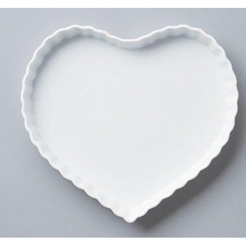 Plate utw568-16-374 [10.1 x 9.5 x 1.2 inch] Japanece ceramic Heart quiche LL tableware