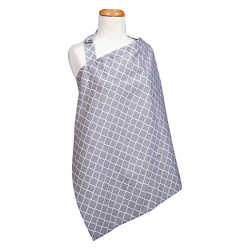 Trend Lab Diamond Nursing Cover, Grey/White