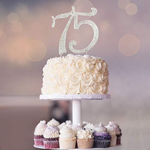 75 Rhinestone Birthday Cake Topper