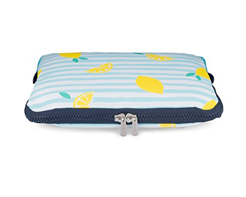 Yumbox Poche - Insulated Sleeve Lunch Box (Amalfi Lemons print); slim and compact, perfect for office and school lunches, to be carried inside a bag or - Box Bag Yumbox Lunch