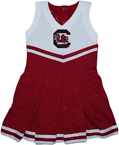 Baby Infant Cheerleader Dress (Creative Knitwear University of South Carolina Gamecocks Newborn Baby Cheerleader Bodysuit Dress)