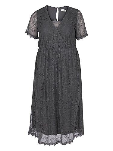 Zizzi Vestido de encaje tallas grandes Mujer gris oscuro