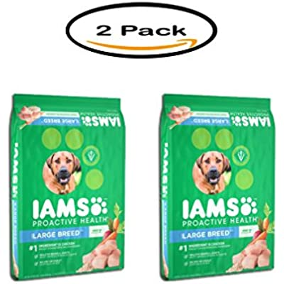 Iams Pack of 2 Proactive Health Adult Large Breed Premium Dog Food 15 lbs