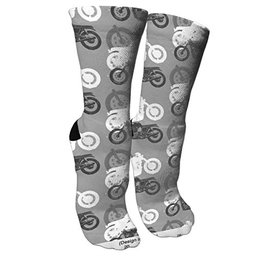 - Motorcycles Moto Madness Fashion Stylish Knee High Socks for Women and Men-Fitness Novelty Crew Athletic Socks Comfortable Knee High Sock