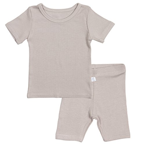 - AVAUMA Newborn Baby Little Boys Snug-Fit Pajamas Summer Short Sets Pjs Kids Clothes (X-Small / 3-6 Months, Cocoa)