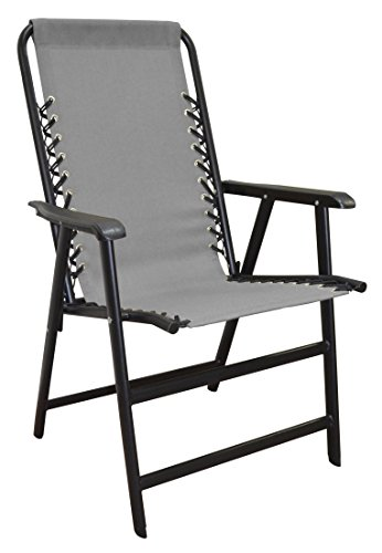 Caravan Sports TSC50124 Suspension Grey Folding Chair