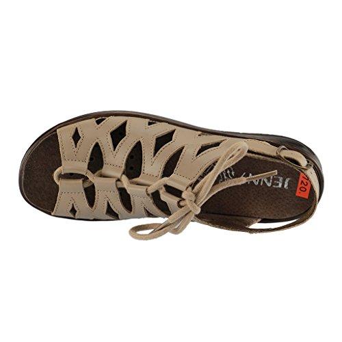 Sandalias by mujer Beige para ara Pardo de vestir de Jenny cuero EZFqw