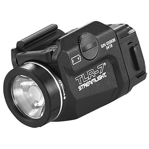 Streamlight 69420 TLR-7 Low Profile Rail Mounted Tactical Light, Black - 500 Lumens (Gun Light)
