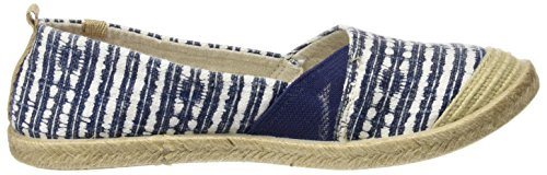 Women's Navy White Multicolour Roxy Espadrilles Flamenco dZA0dxT