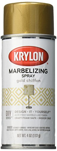 Krylon I00603 Marbelizing Spray Decorative, Gold Chiffron, 4 Ounce