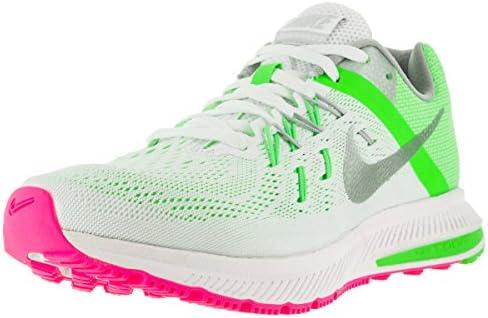 Nike Women's Zoom Winflo 2 White Metallic Silver G Running Shoe