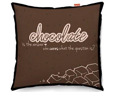 KICO Chocolate Typography Funky sofá cojín, algodón, marrón ...