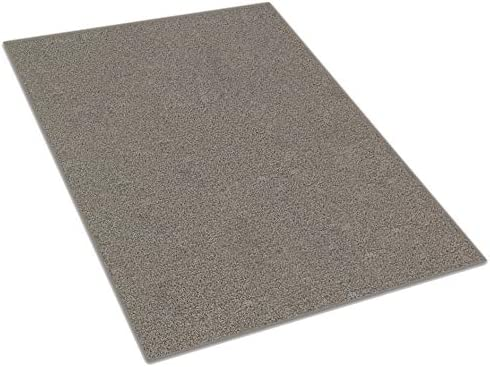 Cloudy Grey Medium Gray Area Rug Available in Multiple Shape and Custom Sizes. 100 Solution Dyed BCF Polyester Fibers. 11 x 19