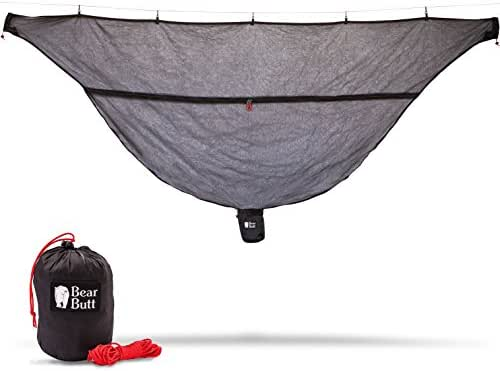 Bear Butt Hammock Bug Net - Exclusive Polyester Mesh for 360 Mosquito Protection - Dual Sided Diagonal Zipper For Easy Access - Start Up Company