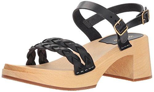 Regular EU Nature 8 Black 38 Women's swedish Sandal US Heeled 38 Tanja hasbeens wX6X8qp0