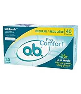 o.b. Pro Comfort Tampons, Multi-Pack, 40-Count Package