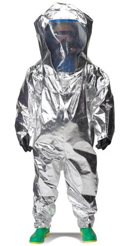 Lakeland Interceptor Fully Encapsulated Back Entry Level A Vapor Protective Suit, Disposable, 2X-Large, Blue, NFPA 1991 Certified