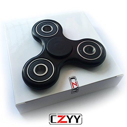 czyy-black-spinner-fidget-edc-adhd-focus-toy-ultra-durable-high-speed-si3n4-hybrid-ceramic-bearing-1
