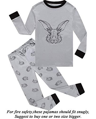 Boys Pajamas Easter Rabbit Gifts 100% Cotton Toddler Pjs Long Sleeve Kid Sleepwear Sets Size 5