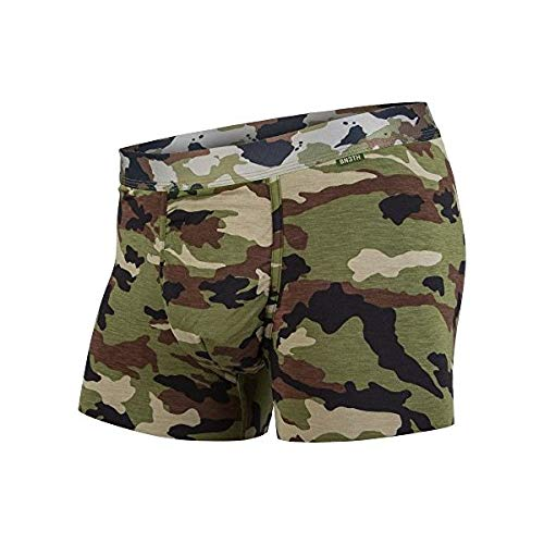 - BN3TH Premium Men's Trunk Brief Underwear Classic with 3D Support Pouch and Seamless Pucker Panel, Breathable and Moisture Wicking Soft Modal Fabric, Camo, Small