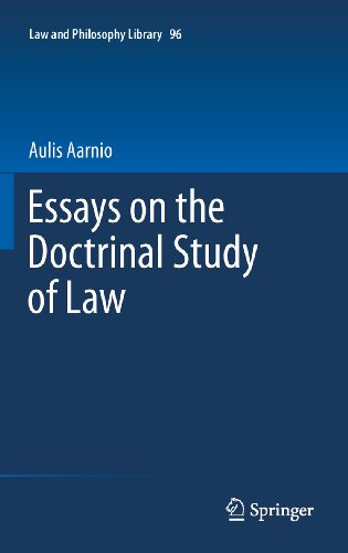 Essays on the Doctrinal Study of Law: 96 (Law and Philosophy Library)