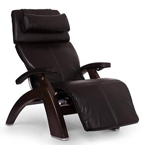 Human Touch Perfect Chair PC-420 Classic Manual Plus Dark Walnut - Espresso Premium Leather Zero Gravity Recliner
