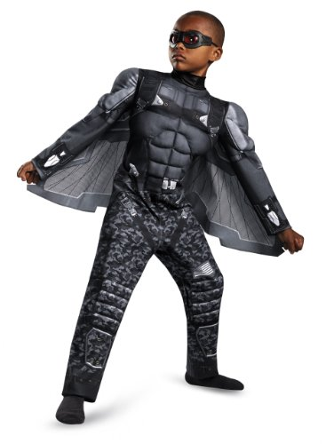 Captain Costume Halloween Falcon (Disguise Marvel Captain America The Winter Soldier Movie 2 Falcon Classic Muscle Boys Costume, Large)