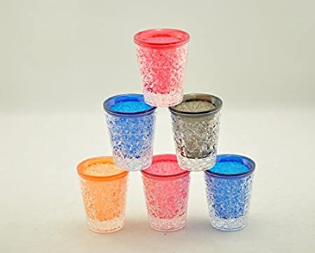 Doble pared congelador Gel Shot gafas con Multi Color 1 onza, Set ...