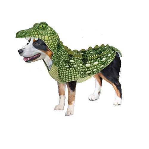 Amazing Pet Products 55539 Green Crocodile Wannabe Dog Coat, Medium