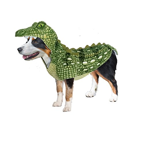 Amazing Pet Products 55539 Green Crocodile Wannabe Dog Coat, Medium -