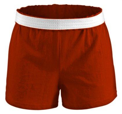 Soffe Athletic Cheer Shorts, Texas Orange, Small