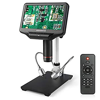 Image of Andonstar AD407 3D HDMI Digital Microscope with 4MP UHD and 7 inch Adjustable LCD Screen for Phone Repairing and Soldering