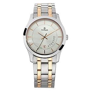 Titan Gents Karishma Analog Silver Dial Men's Watch-NM1823KM01 / NL1823KM01