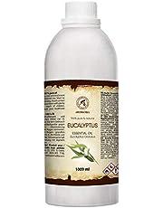 Eucalyptus Etherische Olie 1000ml - Eucaliptus Globulus - 100% Puur & Natuurlijk Essentiële Olie - Aromatherapie - Geurolie - Geurverspreider - Ontspanning - Toevoegen aan Bad & Cosmetica - Massage - Wellness - Aroma Lamp - Elektrische Diffuser