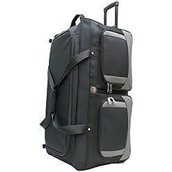 Amaro 33-inch Wheel Rolling Duffel Bag (45331) (one bag, BLACK)