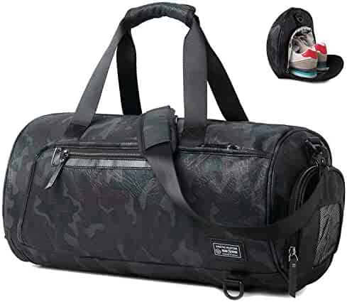 Sport Gym Bag for Men Women Travel Duffel Bag with Shoe Compartment Overnight  Duffle Tote ( ad1fd51340