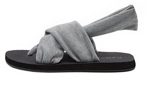 Rampage Womens Rio Slingback Yoga Mat Sandal Grey Uwlwq2Hx