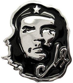 eeddoo® Gürtelschnalle - Che Guevara in schwarz (Buckle für Wechselgürtel für Damen und Herren | Belt Frauen Männer Oldschool Rockabilly Metall Gothic Wave Rock Biker Western Trucker Casino Skull)