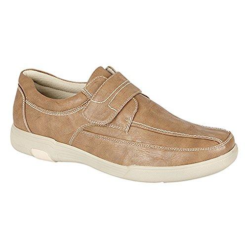 De Velcro Casuales Con Caballero Zapatos Cierre Claro Uns Smart Modelo Hombre Marrón Leisure q1fRZZ