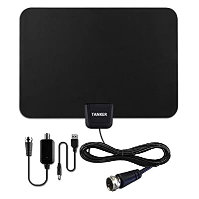 HDTV Antenna Detachable Amplifier 50 Mile Range with 10ft Coax Cable